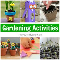 These gardening ideas for kids are full of hands-on learning. Let's plant, let's explore at the sensory table, let's do some gardening art!