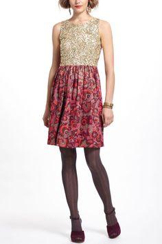 Sequined Jacquard Dress - Anthropologie.com