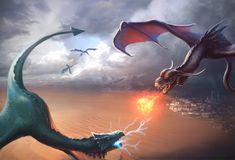 Fire vs lightning by vandervals.deviantart.com on @deviantART