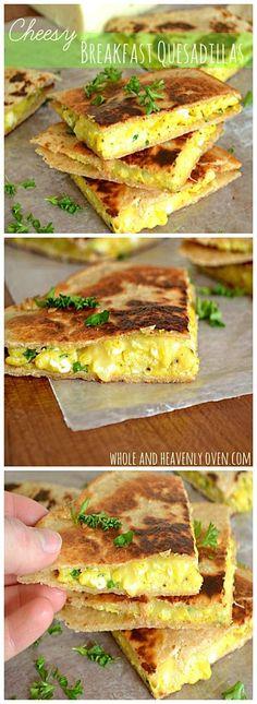Cheesy Breakfast Quesadillas