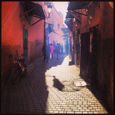 Smoky streets of Marrakech Medina