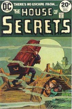 A cover gallery for the comic book House of Secrets Creepy Comics, Sci Fi Comics, Fantasy Comics, Old Comics, Horror Comics, Old Comic Books, Vintage Comic Books, Vintage Comics, Book Cover Art