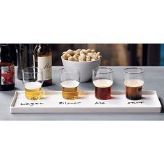 Beer tasting! mini tube stacking glass, bento tray, whiteboard marker | CB2