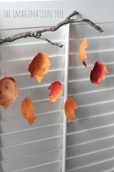 Recycled autumn leaf craft