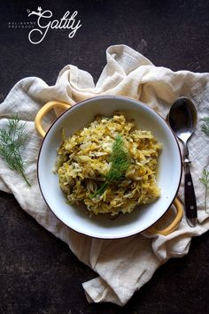 Gatity's culinary adventures - recipes full of flavor: Young cabbage with dill (. Gazpacho, Chana Masala, Risotto, Cabbage, Vegan, Baking, Ethnic Recipes, Fitness, Bakken