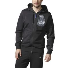 Adidas Originals Men's Adventure Full Zip Hoodie Black | eBay