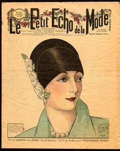 Ladies Fashion Magazine Cover - Le Petit Echo de la Mode - Art deco fashion - Vintage fashion - French magazine cover