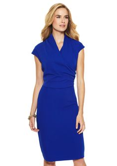 ideeli | JONES NEW YORK Cap Sleeve Draped Sheath Dress
