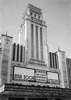Gaumont State Cinema - Kilburn - London in 1937 (film showing, on Sunday only, is On The Avenue with Dick Powell and Madeleine Carroll) Saw Ronnie Wood + Keith Richards play here decades later. Cinema Theatre, London Theatre, Theater, Vintage London, Old London, North London, Ronnie Wood, Keith Richards, London History