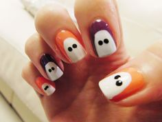 cute Halloween nails that are easy | Cute Easy Halloween Nail Designs