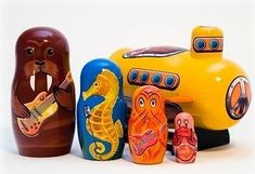 20 Unusual Yellow Submarine Items: Beatles. I want so many of these items! But they're unavailable! :(
