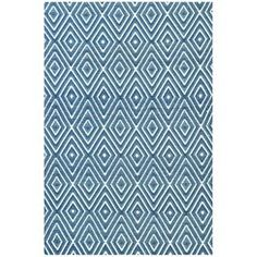 Decorate your patio, sunroom, or porch with this stylish Dash & Albert design  Product: Rug    Construction Material: Polypropylene     Color: Denim and white     Features:  Handmade in India   Can be used indoors or outside  Woven            Note: Please be aware that actual colors may vary from those shown on your screen. Accent rugs may also not show the entire pattern that the corresponding area rugs have.