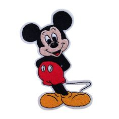 Iron on and Sew On Embroidered Patch MICKEY MOUSE