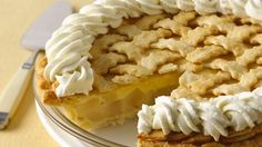 Pear Cream Pie ~ A creamy filling surrounds cooked pears in this delicious pie that was the blue-ribbon winner at the Arkansas State Fair, and the national pie winner in 2009.