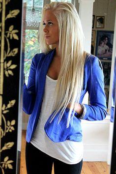 Blonde hair: