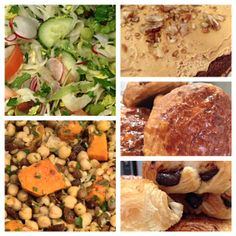 Today's goodies from Pitfield Winchester Cafe, including homemade fresh soup, crunchy fresh salad and lots of naughty sweet things! #food #lunch #cakes #winchester #uk