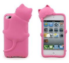 Lovely 3D Cartoon iPod touch 4 Soft Silicone Case Cover for iTouch 4g
