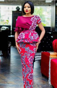A fabulous collection of latest Ankara skirt and blouse styles - Stylish Naija Best African Dresses, Latest African Fashion Dresses, African Print Fashion, African Attire, Women's Fashion Dresses, Skirt Fashion, African Prints, Lace Skirt And Blouse, Ankara Skirt And Blouse