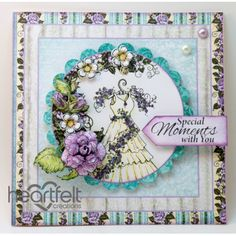 Heartfelt Creations - Lavender Rose And Dress Project
