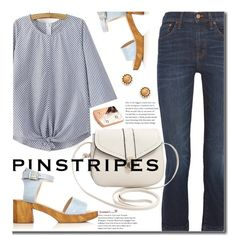 """""""Preppy Pinstripes"""" by beebeely-look ❤ liked on Polyvore featuring Topshop, Madewell, preppy, sammydress, pinstripes and polyvorecontest"""