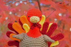 Free Thanksgiving Crochet Amigurumi - Hand Turkey
