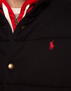 Wool finish not the polyester one. Polo Ralph Lauren Gilet with Check Lining