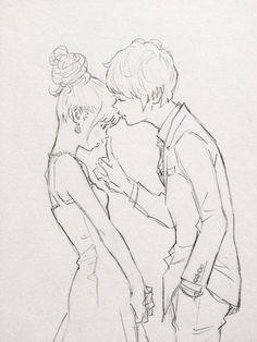 Manga Pärchen ... Zeichnung ... Flirt ... flirten