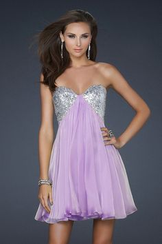 2012 Collection Short/Mini Sweetheart A Line Beadings Chiffon USD 99.99 STPEY7N251 - StylishPromDress.com