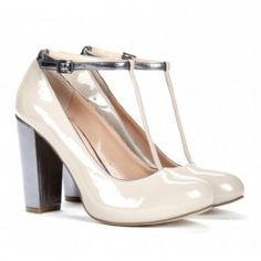 White chunky heel shoe by sole society  $59.95