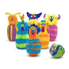 Monster Bowling by Melissa and Doug.  Soft bowling fun for little ones.