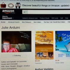 From surrendering fear of change to healing from #miscarriage and #infertility, consider @JulieArduini #books on #Amazon. #cybermonday #surrender #livefree