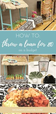Cute ideas fur a luau. Fun luau ideas. Church party luau on a budget.
