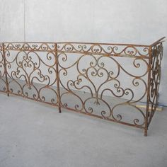 balcony railing divinity~ Pool Coping, French Walls, Front Grill, Balcony Railing, Roof Tiles, Railings, Building Materials, Seaside, Dining Room
