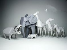 Origami Animal Sculptures