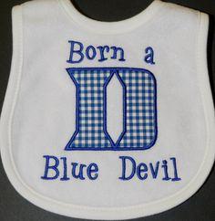 Duke Blue Devil Bib