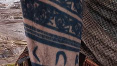 Tagged with godofwar, baldur; Shared by Baldur and most of his tattoos [God of War] Viking Tattoo Sleeve, Viking Tattoos, Sleeve Tattoos, Rune Tattoo, Norse Tattoo, God Tattoos, Tattoo Themes, Dark Tattoo, God Of War