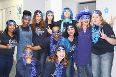We are the blue team at work
