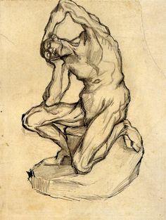 Kneeling Ecorche - Vincent van Gogh