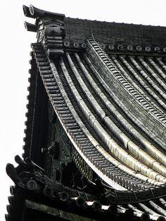 Detail of the roof of the Main Hall, Ni-no-maru, Nijo Castle, Kyoto, Japan VincentPhotomaniac - Japanese Aesthetics