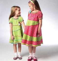 K3944 | Girls' Dresses | Dresses/Skirts/Tops | Kwik Sew Patterns
