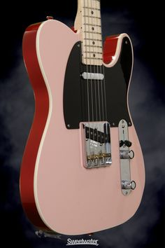 Fender Custom Shop Dual Tone Top Bound Telecaster NOS - Shell Pink/Red | Sweetwater.com