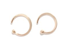 Eco-friendly take on trendy hoop earrings: Recycled gold huggie hoops by Melissa Joy Manning