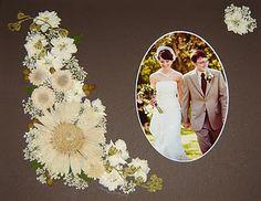 Bridal Bouquet Preserved - Gerbera Daisy, Larkspur and Wildflowers ~ www.pressedgarden.com