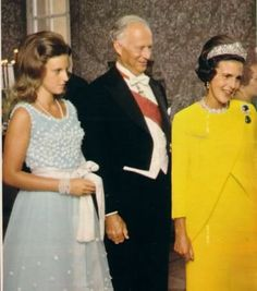 Elisabeth left the Cartier to her son, Leopold III, and the piece passed to him on her death in November 1965. He gave it to his second wife, Lilian, seen here in the yellow dress