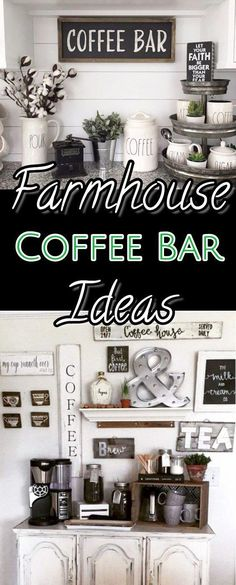 Kaffeebar Ideen und Dekor – DIY Bauernhausstil Küche Kaffeebars und Kaffee … … Coffee Bar Ideas and Decor – DIY Farmhouse Style Kitchen Coffee Bars and Coffee … – Home Decor Kitchen, Coffee Bars In Kitchen, Farmhouse Style Kitchen, Trendy Kitchen, Home Coffee Stations, Farmhouse Style Diy, Kitchen Style, Living Room Bar, Declutter Kitchen