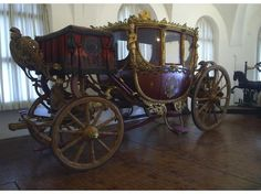 Royal travelling carriage at Schloss Nymphenburg, Germany