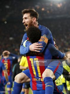 Neymar of FC Barcelona, Lionel Messi of FC Barcelonaduring the UEFA Champions League round of 16 match between FC Barcelona and Paris Saint Germain on March 08, 2017 at the Camp Nou stadium in Barcelona, Spain.