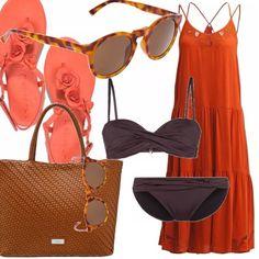 Mi piace l'idea di essere chic anche in spiaggia. Ecco una delle mie proposte per valorizzare questi occhiali dal brand inconfondibile Mr. Boho, abbino così un bikini color cioccolato, abito lungo e flat con applicazioni floreali. La borsa davvero bello ove contenere asciugamano, cellulare e tutto ciò che crediamo e...non dimentichiamo il solare!!
