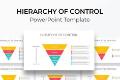 Hierarchy of Control PowerPoint Template Color Themes, Diagram, Templates, Stencils, Vorlage, Models
