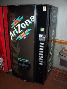 An Arizona tea vending machine at a travel stop in New York. Arizona Tee, Tea Vending Machine, Vending Machines, Arizona Green Teas, Cheap Travel Deals, Las Vegas, Last Minute Travel, Iced Tea, House Rooms